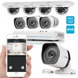 Zmodo 8CH Smart PoE Surveillance Camera System 4 x720P Outdoor + 4 x720P Indoor Dome Security Camera No Hard Drive
